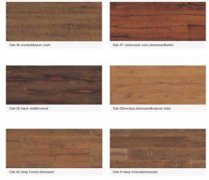 Beli Kayu lantai wood flooring murah berkualitas seri Oak-36 smoked&sawn mark
