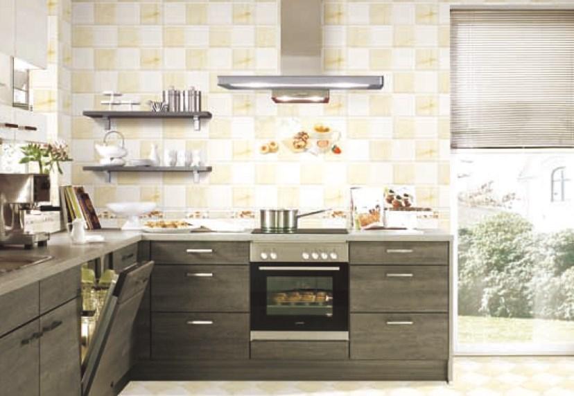 Contoh Pengaplikasian Keramik untuk dinding dapur