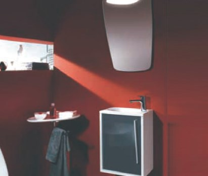 Desain lemari kamar mandi yang minimalis YMDF-5007