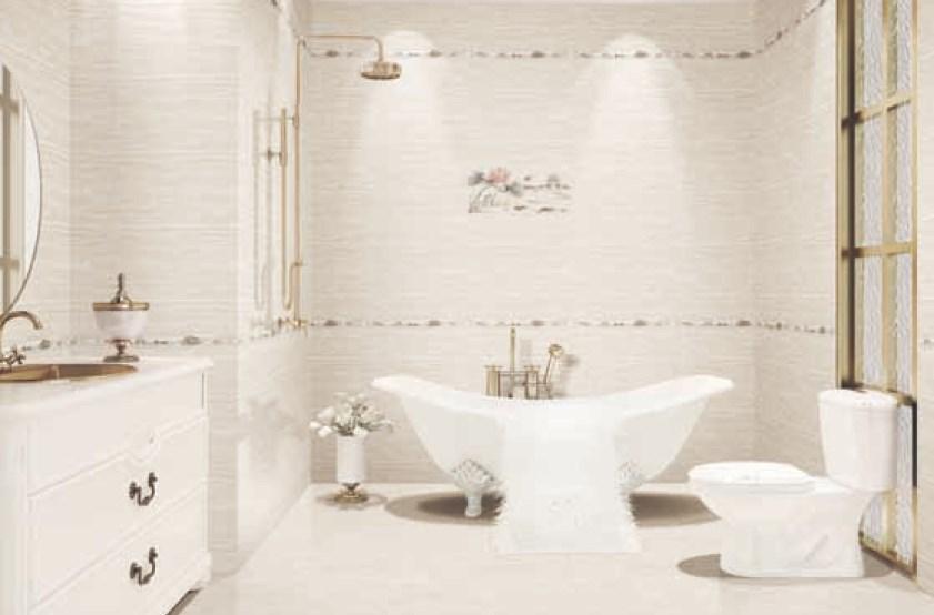 Keramik dinding kamar mandi ketika di aplikasikan