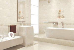 Pengaplikasian keramik dinding kamar mandi