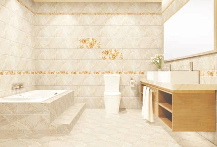 Pengaplikasian keramik kamar mandi