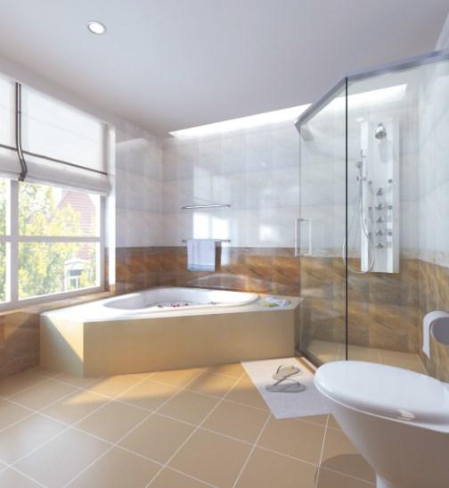 pengaplikasian keramik kamar tidur dan kamar mandi